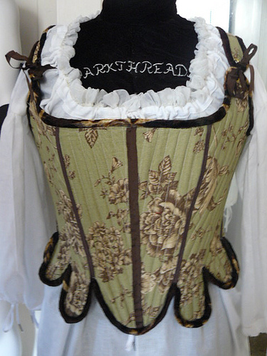 18th c. green corset